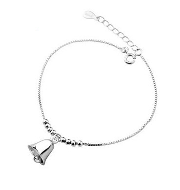 Summer Fashion 925 Sterling Silver Chain Anklets For Women Turn the bell Ankle Bracelet Foot Jewelry Girl Best Gifts