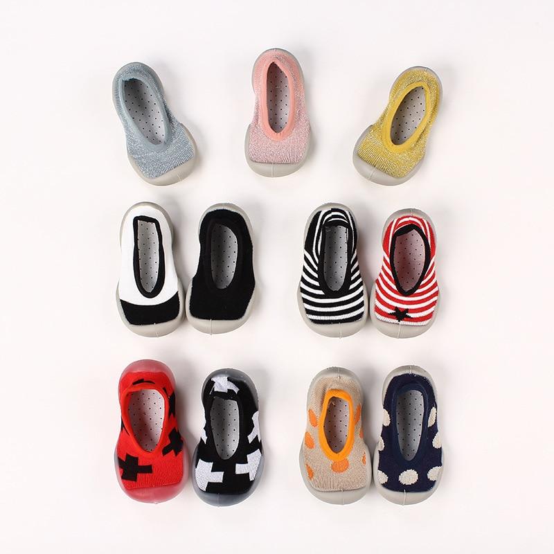 Baby Toddler Shoes Non-slip  Shoes Sock Floor Shoes Anti-off Foot Socks  Z19 5sizes Boy Girl Color Randomly ZFQ