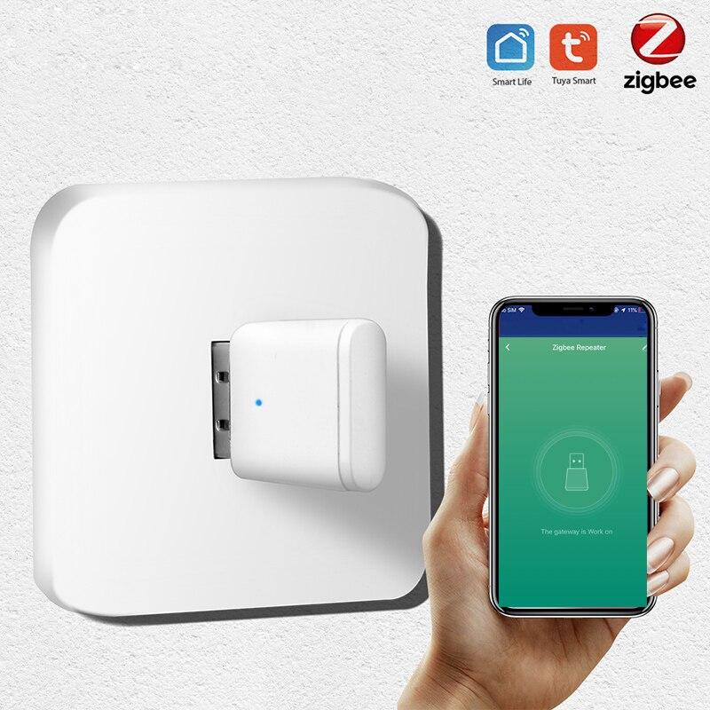 Lonsonho Tuya Zigbee Signal Repeater USB Zigbee Hub Signal Expand 20-30M Smart Home Automation Module 4