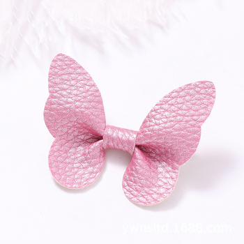 Baby Hair Clips Bow Girl Hairpins PU Children Spring Summer Barrette Kids Candy Color Hair Accessories Infant Hairclip mini hat lace flower kids girls hair clips barrette style accessories for children hair hairclip ornaments hairpins head gifts