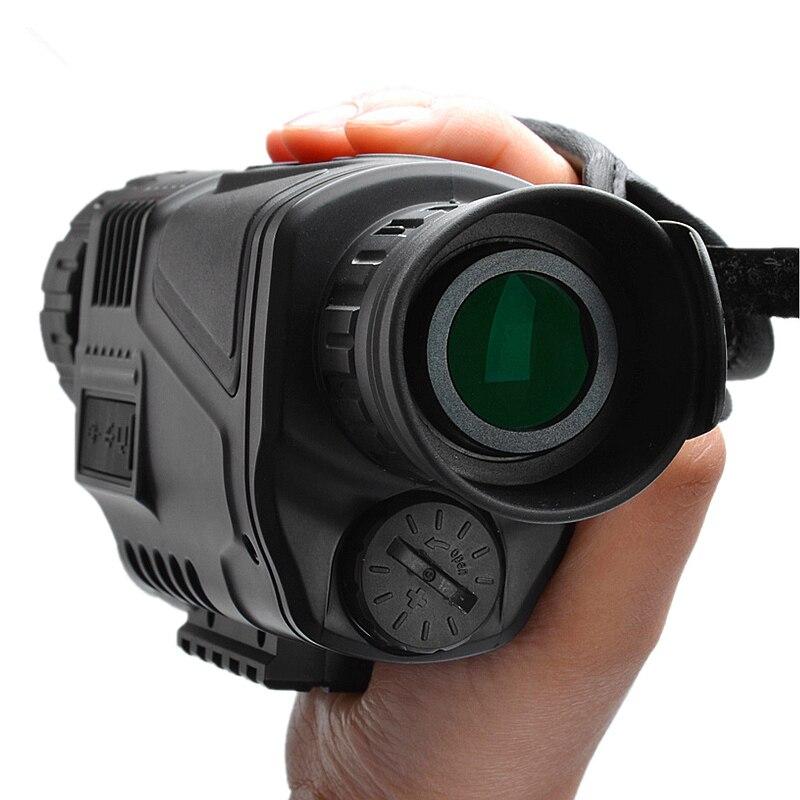 Vision nocturne infrarouge monoculaire 5X40 Zoom lunettes de Vision nocturne 200M Distance Observation nocturne et numérique Ir chasse D - 2
