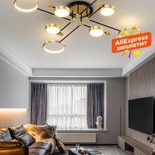Modern LED Fixture-Light Chandelier-Lighting Gold-Frame New-Lamp Lustres Bedroom Living-Room