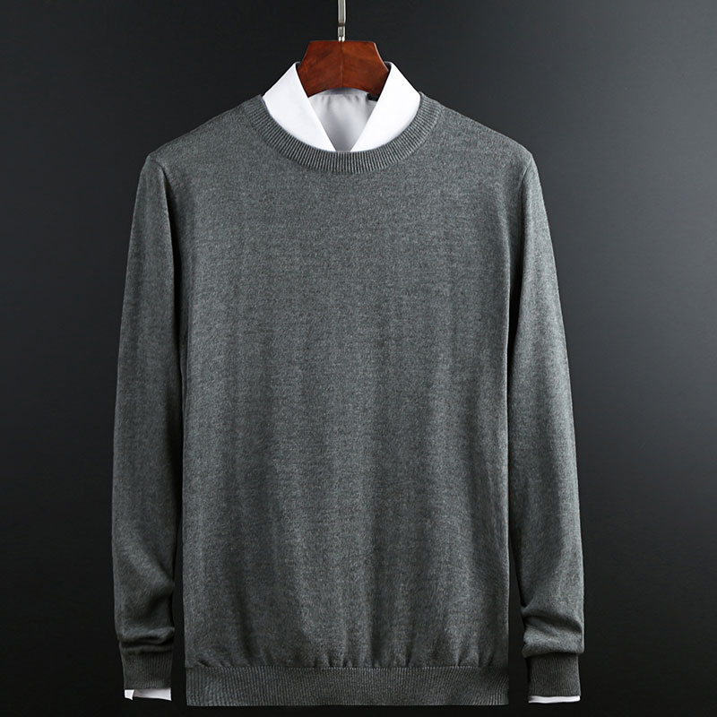 New Fashion Brand Sweater Mens Pullover Solid Color Slim Fit Jumpers Knitting Patterns Autumn Korean Style Casual Clothing Men
