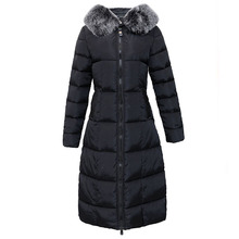 Women's X-Long Winter Jackets New Elegant Coats Parkas Warm Thicken Faux Fur Plus Size Female Clothing Abrigos Mujer Invierno new parkas mujer 2018 fashion long thicken 100