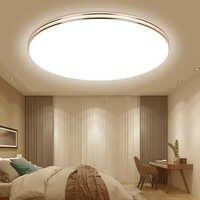 Luces de techo LED ultrafinas, 72W, 36W, 24W, 18W, 220V, lámparas de techo Led moderna para sala de estar, iluminación de techo Led montada en superficie
