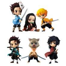 10cm Devil's Blade Anime Figures Tanjirou Nezuko Demon Slayer Agatsuma Zenitsu Inosuke Action Figure Collectible Model Toys Doll