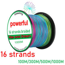 60~320lb super strength 100M/300M/500M/1000M Fishing Line 16 Strands PE Braid Multicolor Super Power Japan Multifilament Line