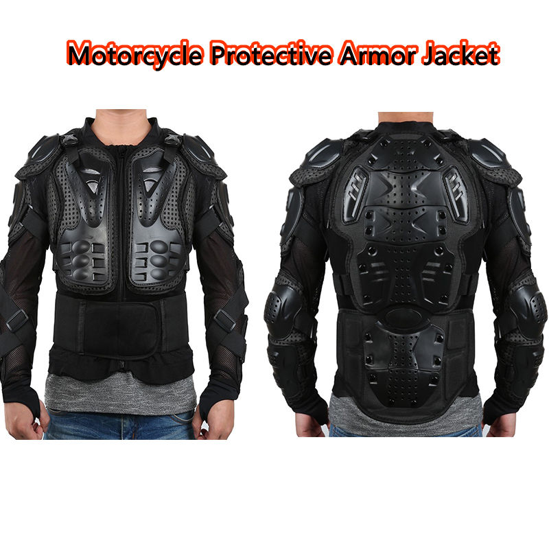 1PCS Motorcycle Full Body Armor Jacket Motocross Armor Vest Chest Gear Protective Shoulder Hand Joint Protection Accessories