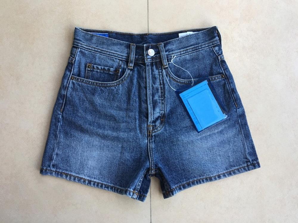 Vintage Denim Shorts Women Casual High Waist Short Pants Lady Casual Short Trousers