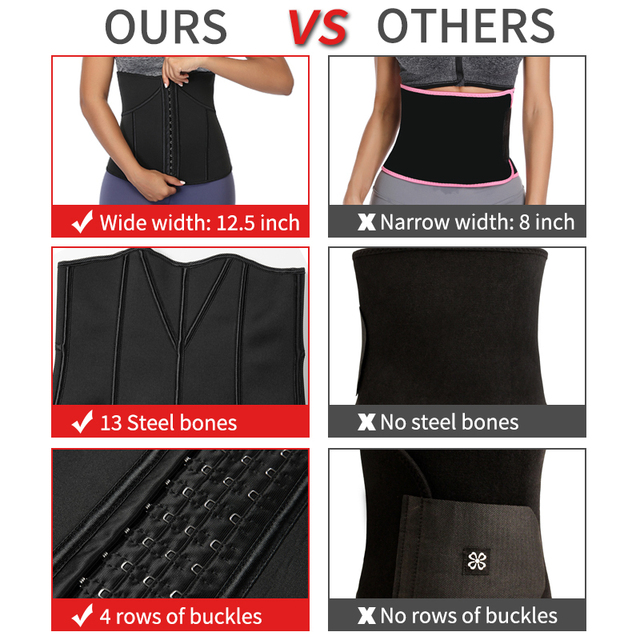 Women Waist Trainer Neoprene Belt Weight Loss Cincher Body Shaper Tummy Control Strap Slimming Sweat Fat Burning Girdle 3