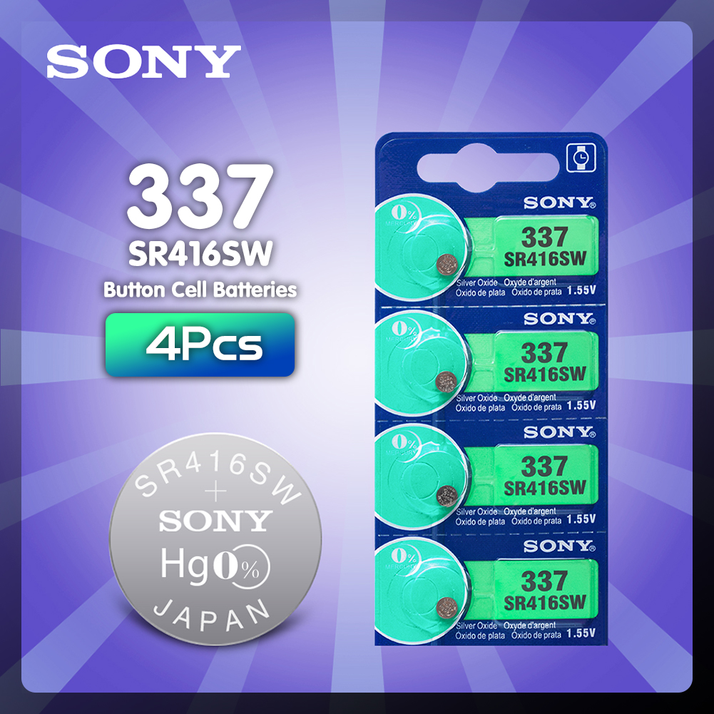 337 SR416SW V337 Silberoxid Japan 1.55 V Sony 10 x Batterien muRata