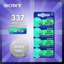 4 предмета в комплекте, для SONY оригинальные новые часы батарея 337 SR416SW серебро 1,55 V аккумулятор таблеточного типа для часы swatch LED наушники