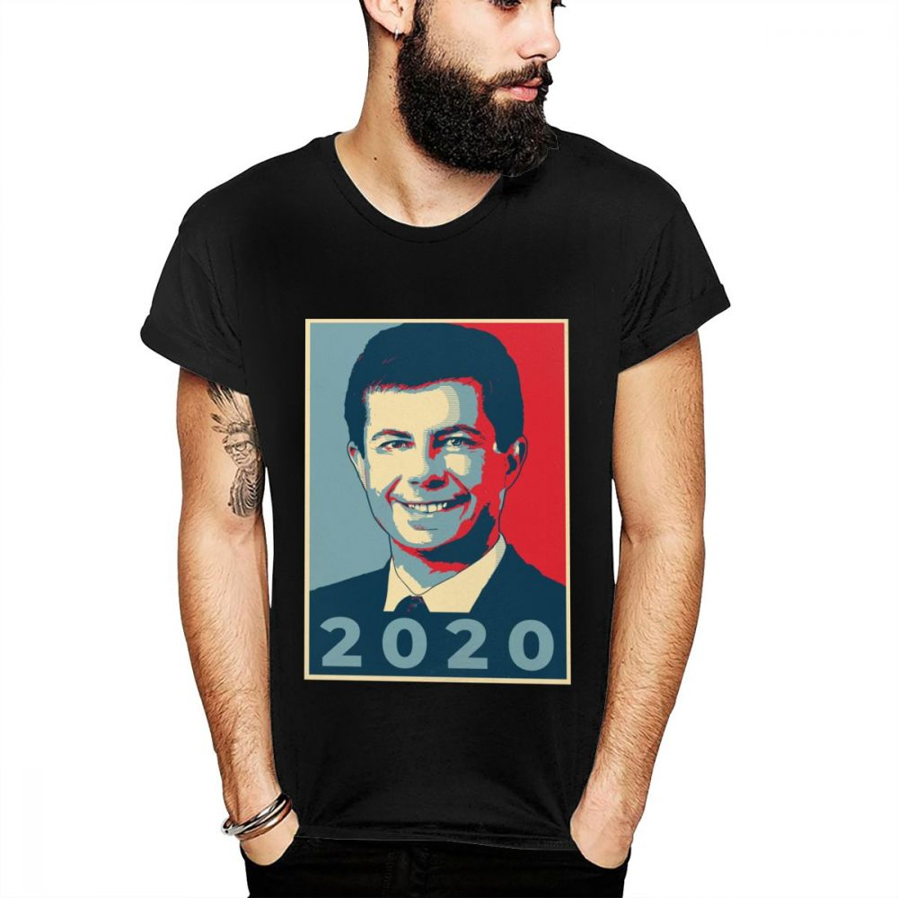 Healthy Hilarious <font><b>Pete</b></font> <font><b>Buttigieg</b></font> For President New Comic Humor T Shirt Basic Solid Style Direct Novelty Hiphop Tops Tee Shirt image