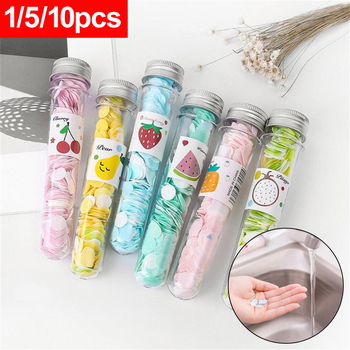 1 Tube Random Color Soap Paper Hand Disinfection Washing Scented Foam Slice  Home Body Bath Slice Heaith Care Travel Portable