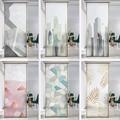 Stadt landschaft muster elektro glas aufkleber matt fenster opaque bad büro anti-licht anti-peeping fenster film