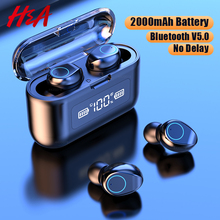 Беспроводные Bluetooth наушники с микрофоном, спортивные водонепроницаемые беспроводные наушники, гарнитура с сенсорным управлением, музыкальные наушники для телефона
