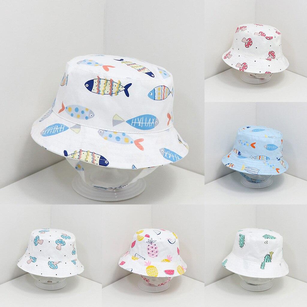 Модная детская летняя Солнцезащитная шляпа #40 с милым принтом, Солнцезащитная шляпа, Солнцезащитная шляпа, уличные головные уборы, мультяшн...
