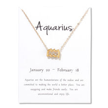 Hot Aquarius Aries Taurus Leo Capricorn Choker Necklace Birthday Gifts 12 Constellation Metal Pendant Necklace With White Card недорого