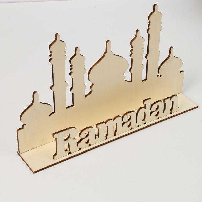 De madera de Eid Mubarak Ramadán adorno de fiesta para el hogar Decoración regalo musulmán islámico escritorio DIY Dinosaurio jurásico, arte de pared t-rex DIY, reloj de pared grande, decoración para habitación de niños, reloj de pared gigante sin marco, reloj moderno Dino
