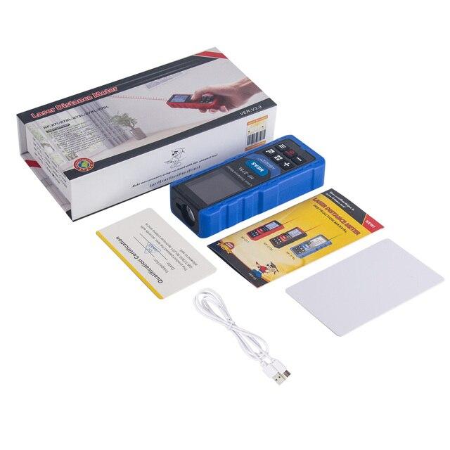 Noyafa NF-275L Green Laser Distance Meter 60M 100M Rangefinder Tape Range Finder Electronic Level Test Instrument 6
