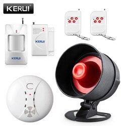 KERUI bezprzewodowe bezpieczeństwo w domu System antywłamaniowy łatwe ustawienie prosta obsługa 120dB głośnik dzwonek funkcja awaryjna