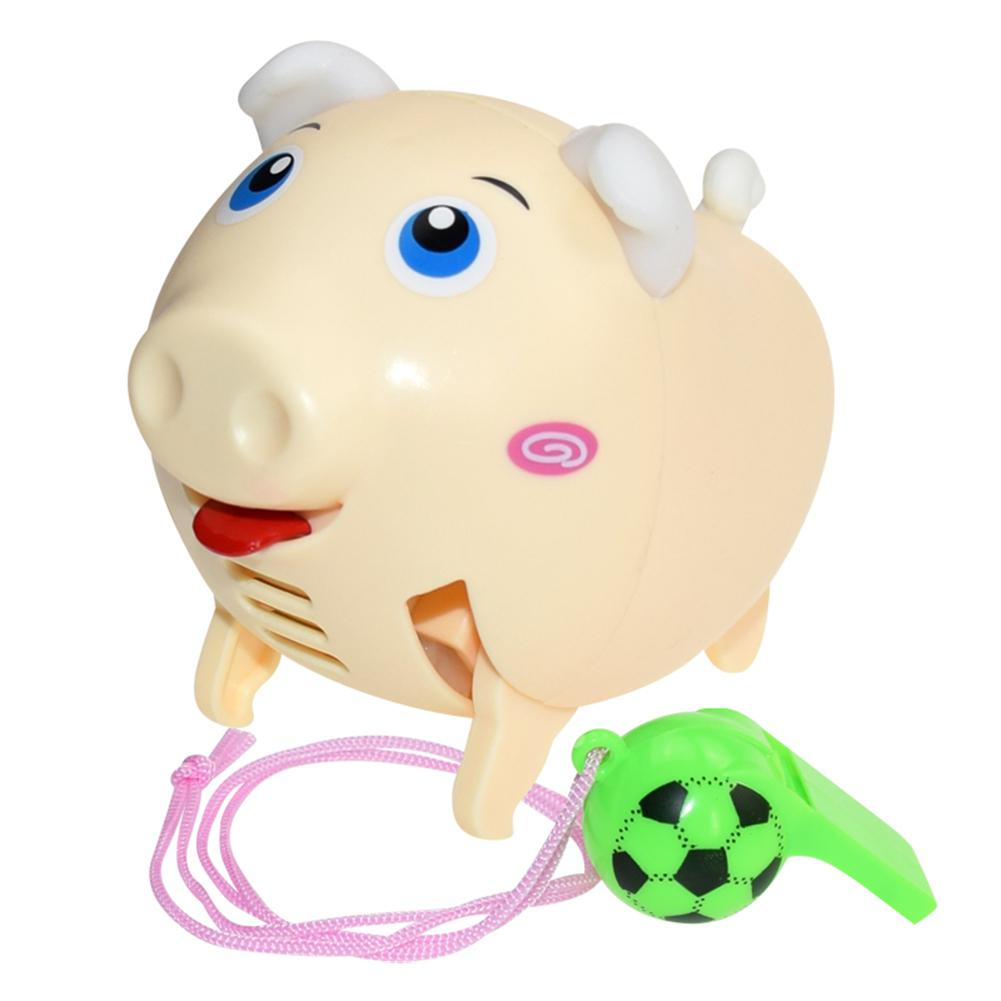Kuulee Cute Electric Whistle Pig Puppy Led Music Children Toy Preschool Teaching High Quality Child Interesting Toys