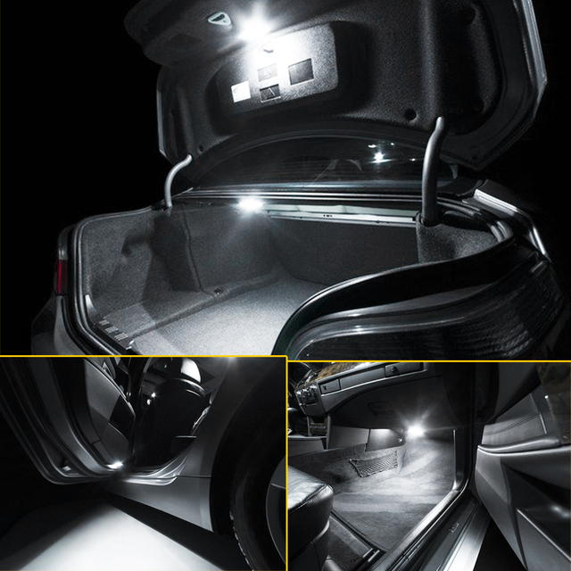 Xukey For Suzuki Grand Vitara 2006 - 2013 Interior Car LED Kit Map Dome Lights Door Number Plate Bulbs Package White 6000K 12V