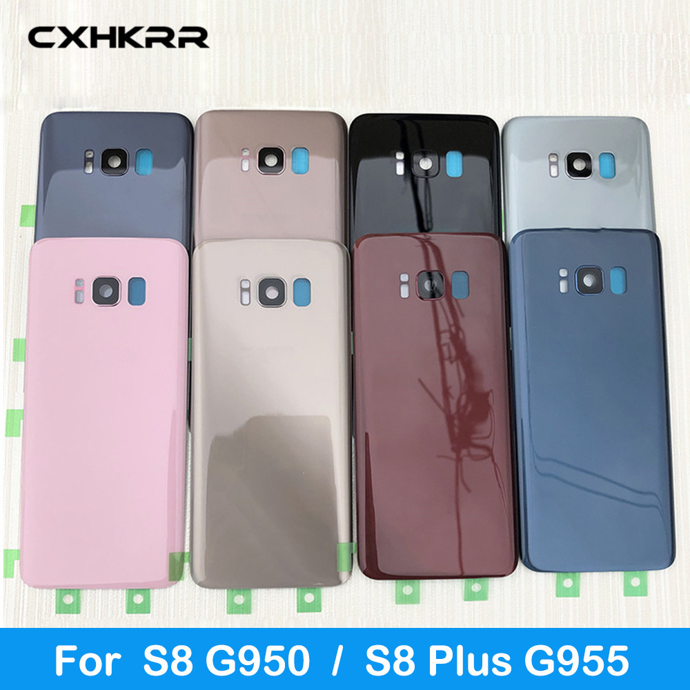 For Samsung Galaxy S8 G950 SM-G950F G950FD S8 Plus S8+ G955 SM-G955F G955FD Back Glass Cover Case Back Battery Cover With Logo