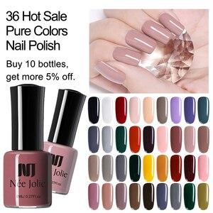 Image 1 - NEE JOLIE 8ml lakier do paznokci różowy szary seria kawy szybkoschnące lakier do paznokci 72 zwykłe kolory na lato zdobienie paznokci dekoracje