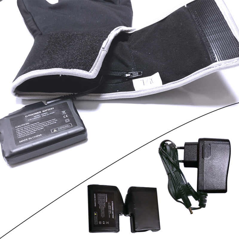 Зимние теплые перчатки с подогревом для мужчин и женщин, уличные перчатки для катания на лыжах, велоспорта, пеших прогулок, перчатки с элект... - 3