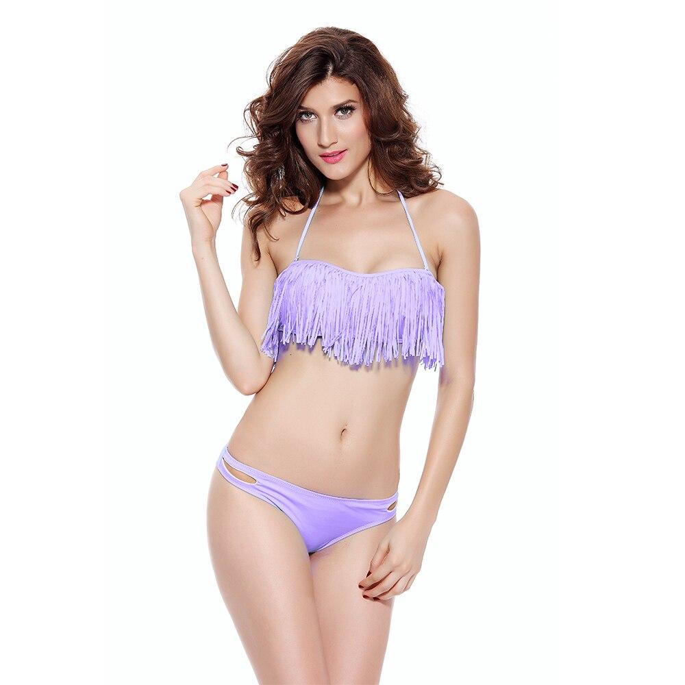 Women Sexy Fringed Bikini Set Plus Size Swimwear Ladies Split Swimsuit Two-Piece Swim Suit Beachwear Bathing Swimsuit