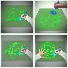 Magic Drawing Kit Draw With Light Tablet Board Luminous In Dark For Kid Paint Educational Children For LED Glow Toy Toys Fun Gif
