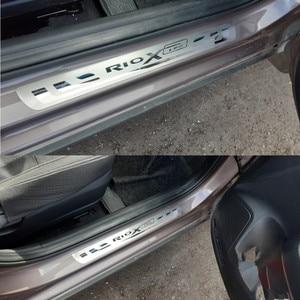 Автомобильная Накладка на порог для KIA RIO 3 4 X-line Xline 2010-2018 2019 2020 аксессуары для стайлинга автомобилей