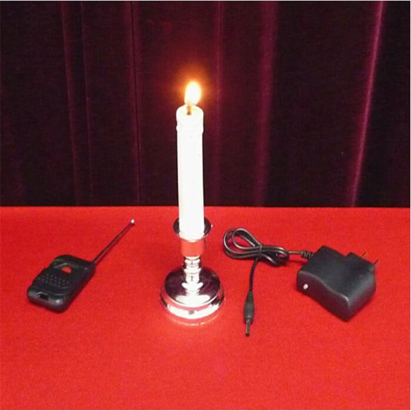 """14/"""" VANISHING CANDLE White Plastic Fire Stage Magic Trick Magician Prop"""