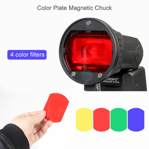 Image 4 - Triopo Flash Magnetic Dome Color Filter Honeycomb Grid Ball Diffuser Speedlite Accessories Kit for Godox Yongnuo Flashlight