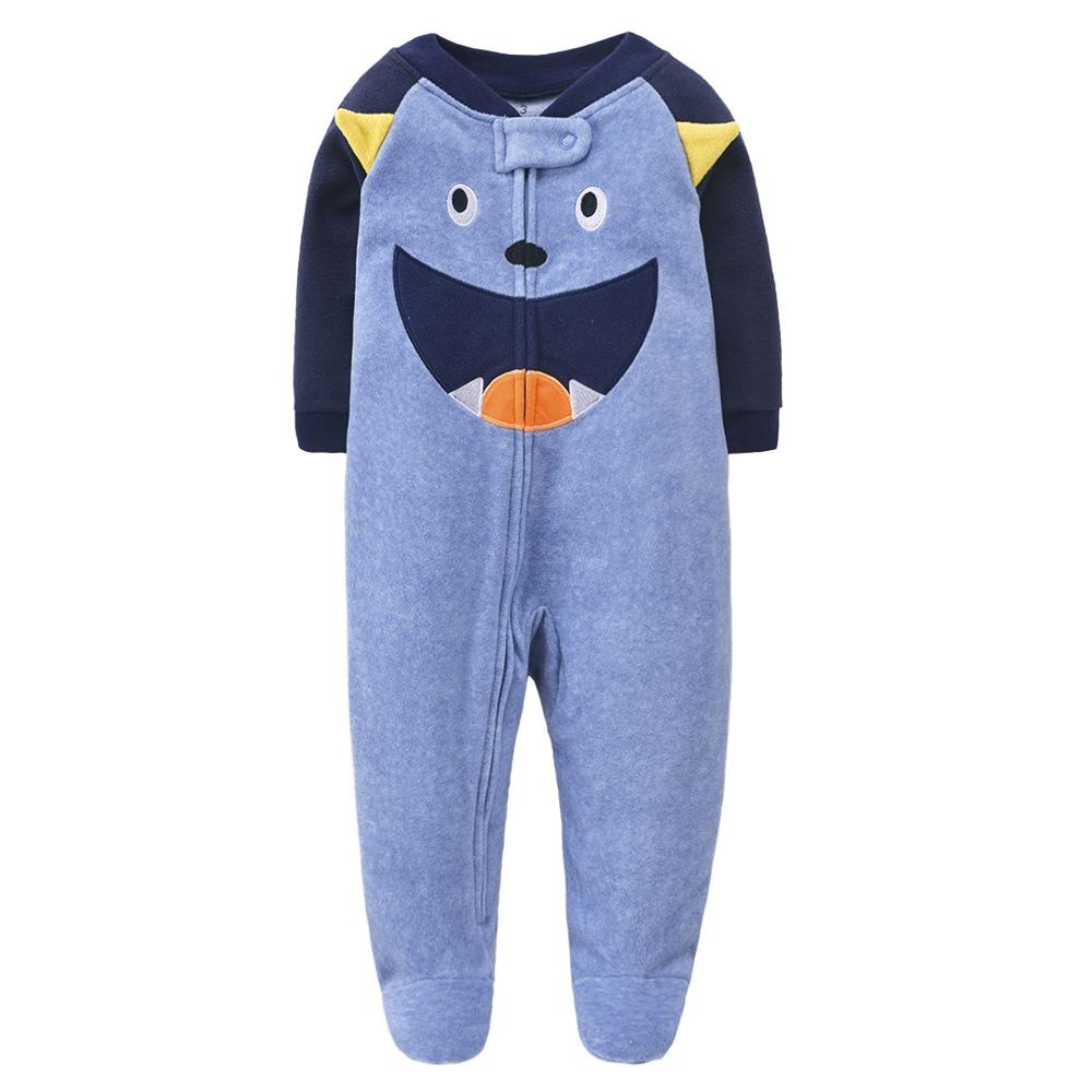 New 2020 Autumn Spring Baby Rompers Clothes Long Sleeves Newborn Boy Girls Polar Fleece Baby Jumpsuit Baby Clothing 9-24m   Happy Baby Mama