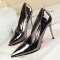 Обувь BIGTREE; Модные женские туфли-лодочки; Туфли из лакированной кожи на высоком каблуке; Женские свадебные туфли на каблуке-шпильке; Женская ...