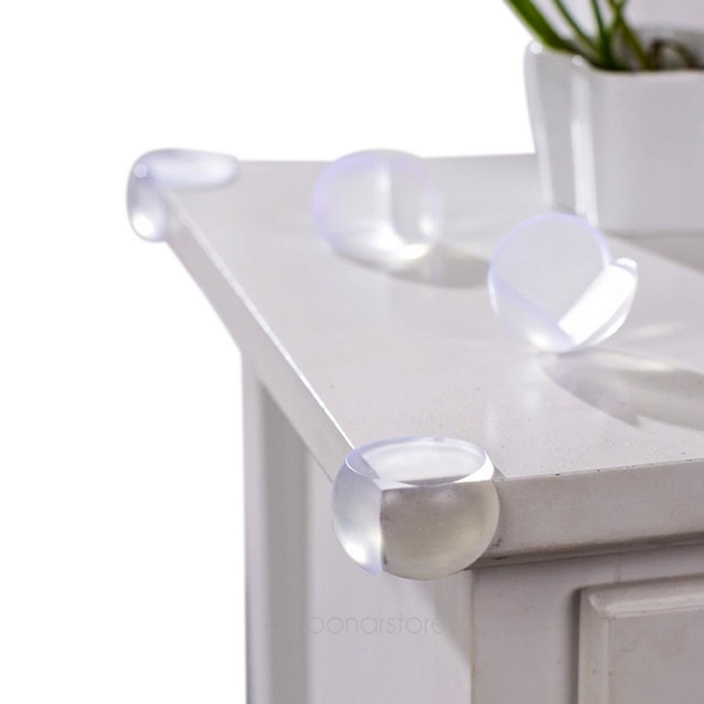 Wholesale 12 Pcs Child Baby Safety Soft Elastic Protector Desk Table Corner Edge Protection Cover Kids Spherical Collision Angle