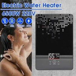 220V 6500W Elektrische Wasser Heizung Instant Tankless Wasser Heizung Badezimmer Dusche Multi-zweck Haushalts Heißer-Wasser heizung