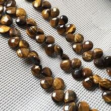 Граненые бусины из натурального камня в форме капли воды свободные