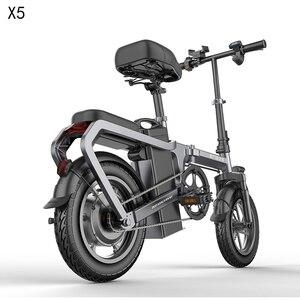 Hot X5 Electric Bike 14inch Mini Electric Bicycle 48V20A city ebike 350W Powerful Bike 30km/h Full throttle sctooer city e bike