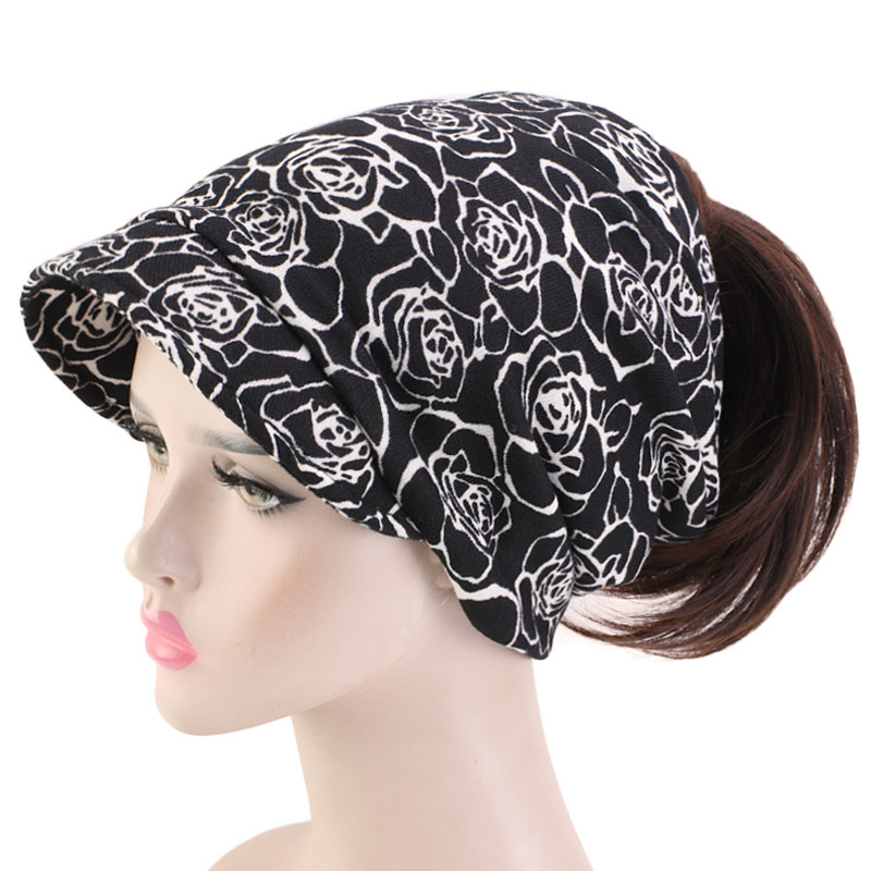 Fashion Ponytail Beanie Winter Cap Jersey Visor Slouch Baggy Cap Headscarf Skullies And Beanies Men Hat Unisex Warm Thick New