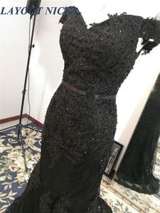 Image 5 - ในสต็อกลูกไม้อย่างเป็นทางการMermaid Evening Dresses Sweetheart Vestidos De Fiestaปิดไหล่พรรคRobe De SoireeพรหมGowns