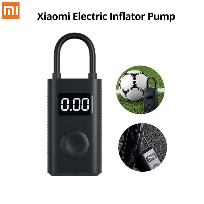 Xiaomi Mijia Portable Smart Digital Tire Pressure Detection Electric Inflator Pump For Bike Motorcycle Car Football Aerate