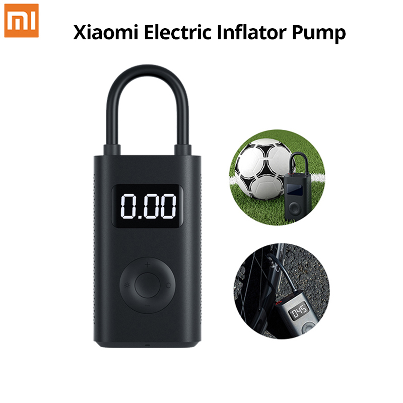 Xiaomi Mijia Portable Smart Digital Tire Pressure Detection Electric Inflator Pump For Bike Motorcycle Car Football Aerate