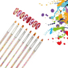 8pcs/set Acrylic Pearls Nail Brush Set Gel Carving Pen Brush DIY Nail Drawing Nail Tips Decoration Nail Art Decoration 1