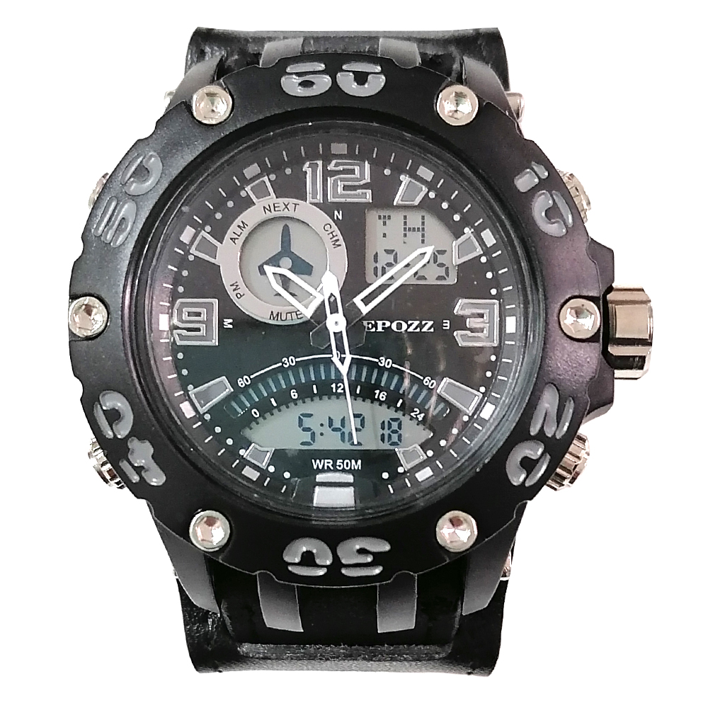 Epozz Prevent Metal Allergy Serie Dual Mode Sport Watch Shock Resist Hours Male Clock Outdoor G Style Relogio Masculino 2802TY