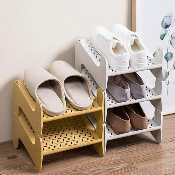 Stackable Shoe Storage Rack Nordic Simple Shoe Rack Home Plastic Shoe Cabinet Layered Finishing Racks stainless steel shoe rack oxford cloth simple shoe rack dormitory multilayer shoe storage rack stackable storage rack