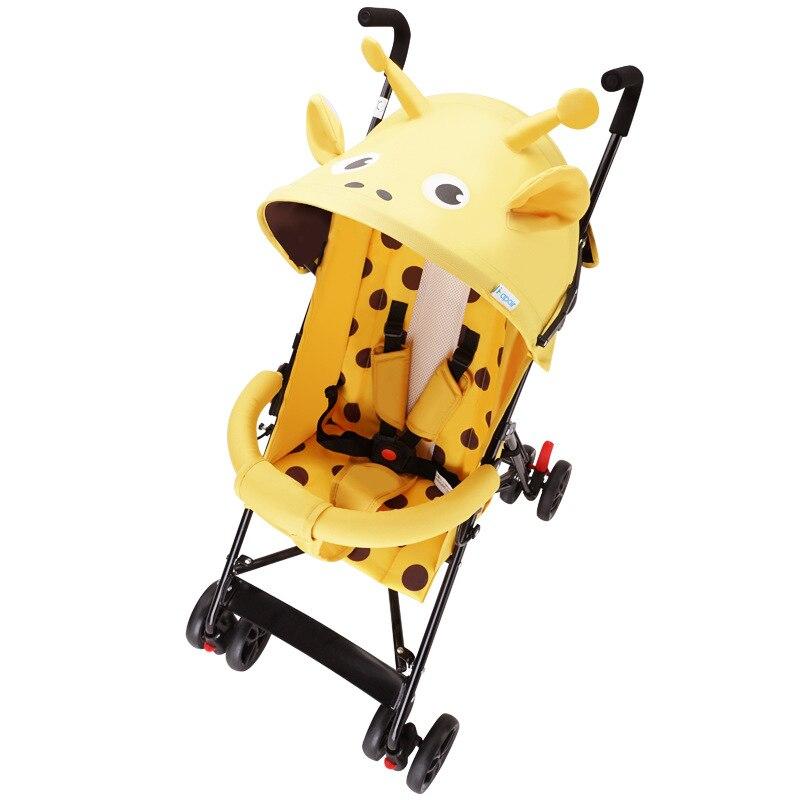Baby stroller animal zebra shape ultra light folding child shock absorber trolley can sit half lying cartoon umbrella carriage
