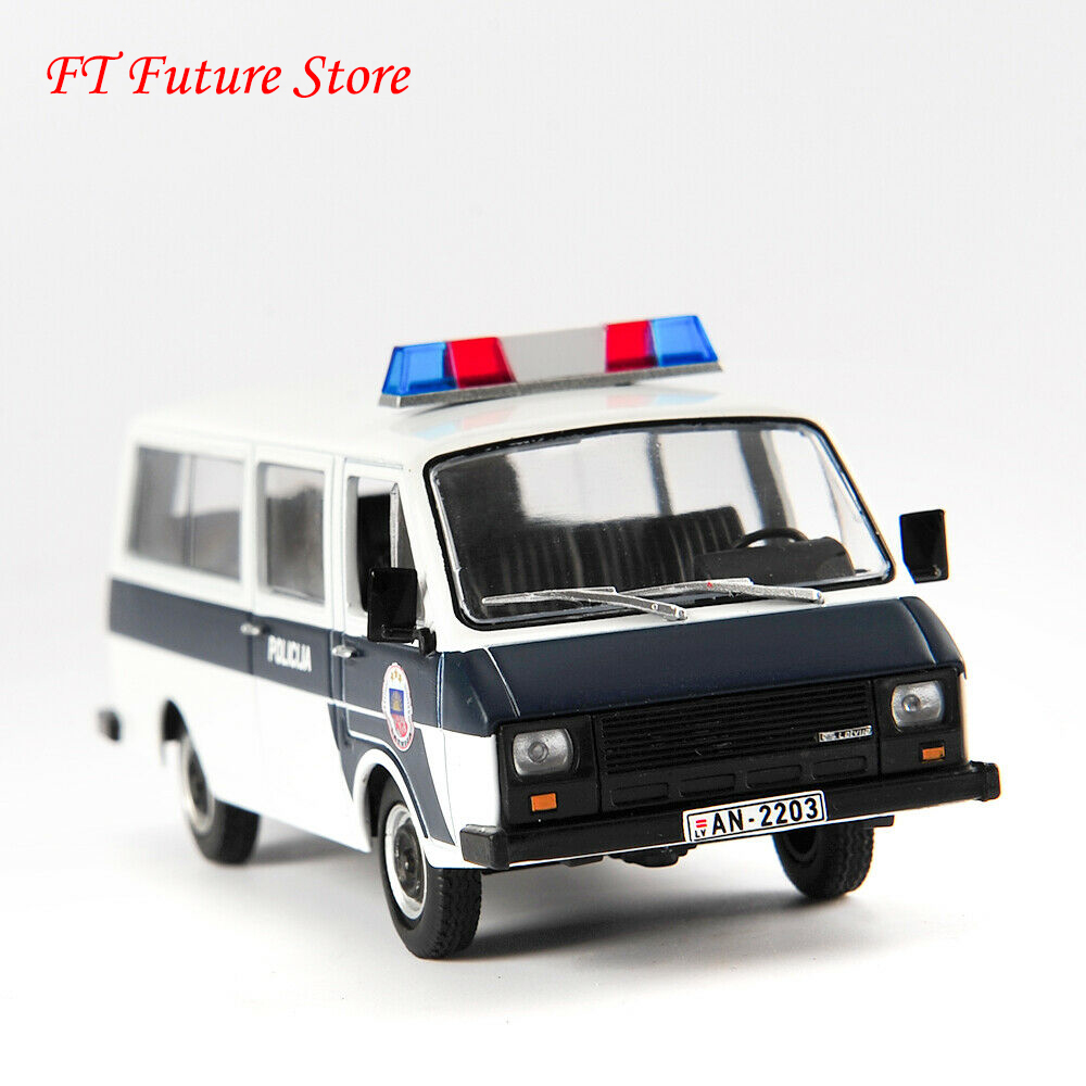 Collectible DeAGOSTINI 1/43 Alloy Diecast RAF-22038 Polices Car Russian Raf Car Ambulance Model Vehicles For Fans Holiday Gifts